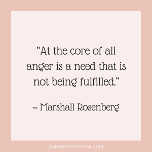 "Quotes for Eating Disorder Recovery - ""At the core of all anger is a need that is not being fulfilled."" ~ Marshall Rosenberg"
